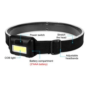 Image 4 - SANYI 2000 LM Mini Headlight Flashlight 3 Modes Head Torch Powered by 3*AAA Battery COB LED Super Bright Headlamp for Camping