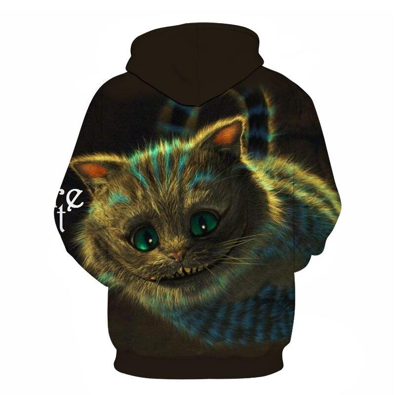 Women's Two Cat Sweatshirts Long Sleeve 3D Hoodies Sweatshirt Pullover Tops Blouse Pullover Hoodie Poleron mujer Confidante Tops 76