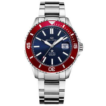 Seagull Watch 2021 Ocean Star Automatic Mechanical300m Waterproof Diving Sport Watch  Red Dial 816.92.6113 1