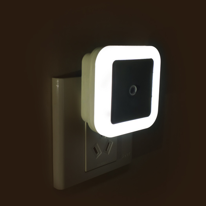 LED Night Light 110V 220V Light Sensor Control EU US Plug Energy Saving Lamp For Living Room Only Work On The Dark