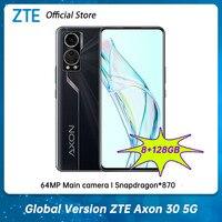 ZTE-teléfono móvil inteligente Axon 30 versión Global, smartphone 5G de 6,92 pulgadas, 120Hz, cámara debajo de la pantalla, Snapdragon 870, ocho núcleos, 65W, SuperCha