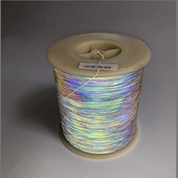 Warning Tape Rainbow Reflective Thread Safety Warning Silk For Clothing Bag Shoes Ribbon