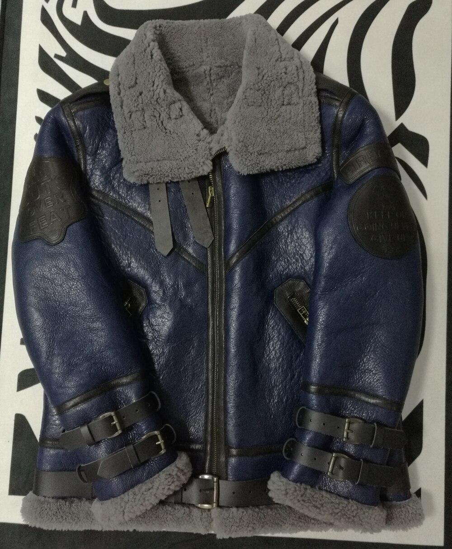 Hbbccbb4354c84b79a80e442c24ae6061t 2019 Fashion 100% Quality Real Sheepskin Fur Men Coat Genuine Full Pelt Sheep Shearling Male Winter Jacket Brown Men Fur Outwear