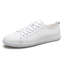 Hot Sale Men's Canvas Shoes Fashion Autumn Black White Men Casual Shoes Lace-up Breathable Men Sneakers size 38-44 *20188 snj men s stylish casual canvas shoes blue white eu size 44
