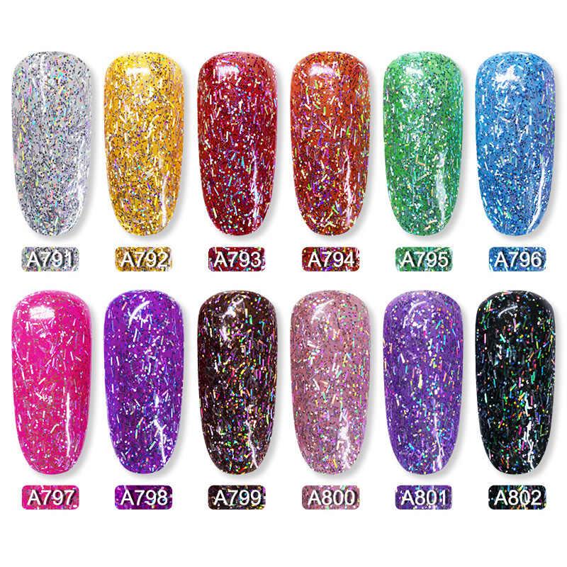 ROSALIND Shiny Silk Gelเล็บPolish BrightสำหรับGlitter Nail Art Design Need UV Top Base Primerสำหรับเล็บ