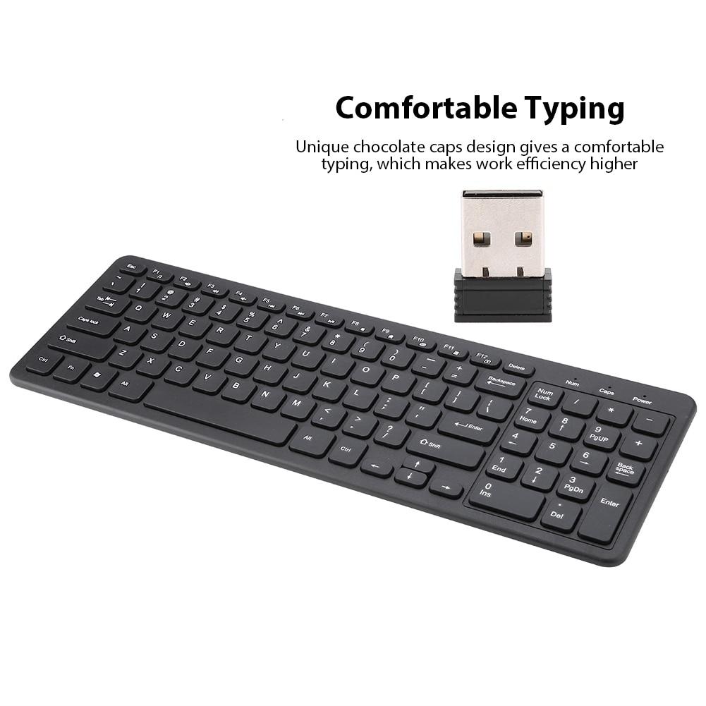 New 96 Keys Multi-functional Keys Typing Wireless USB Keyboard FN Media Keys 2.4G Wireless Keyboard