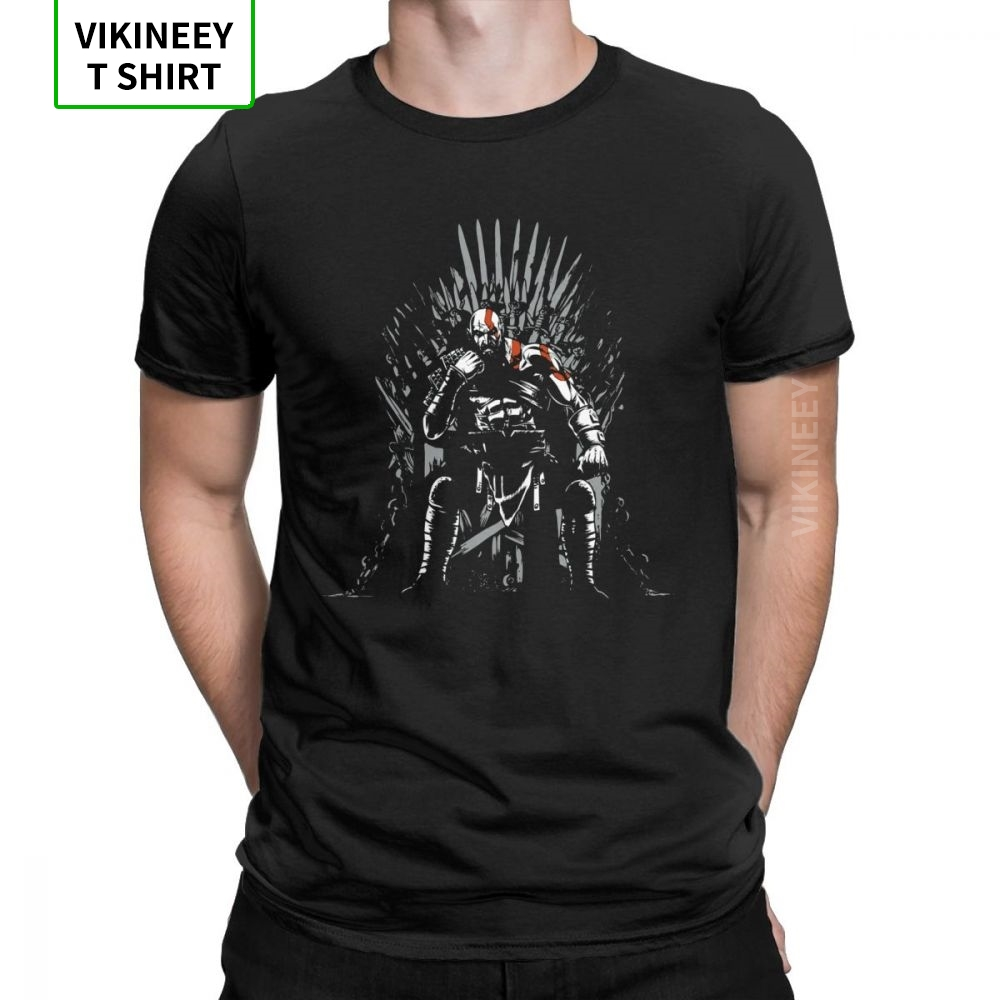 Game Of <font><b>Gods</b></font> Of War Game Of Thrones T <font><b>Shirt</b></font> Men Plus Size Clothes Funky T-<font><b>Shirt</b></font> Crewneck 100% Cotton Tees Guys Swag Streetwear image