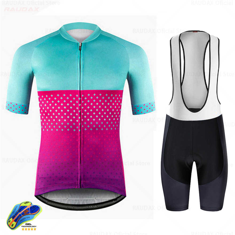men cycling short sleeve jersey bicycle shirt shorts set summer bike clothing