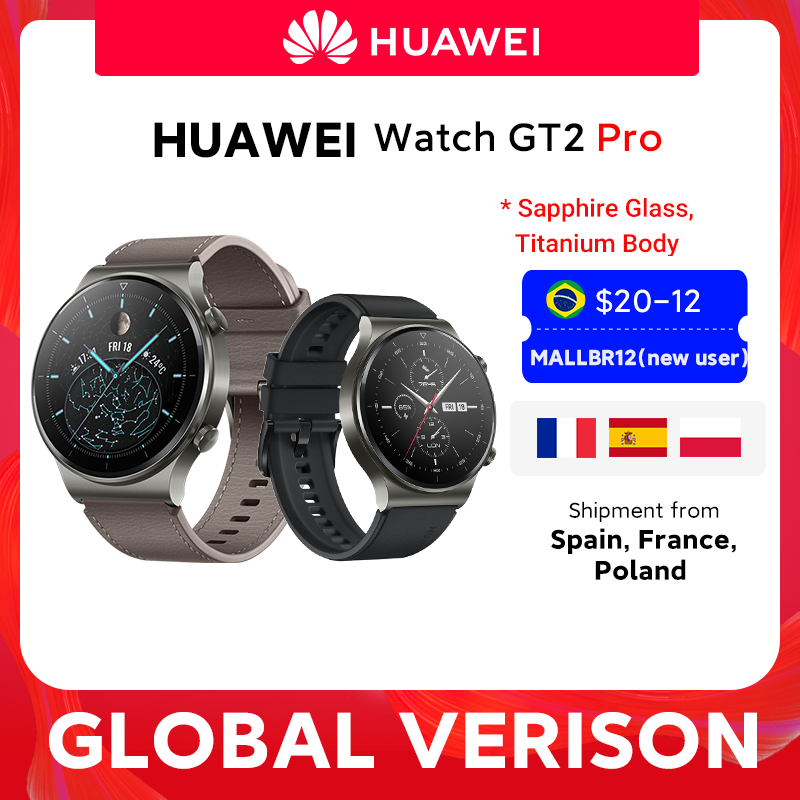 In stock Global Version HUAWEI Watch GT 2 pro SmartWatch 14 days Battery Life GPS Wireless Charging Kirin A1 GT2 Pro|Smart Watches| - AliExpress