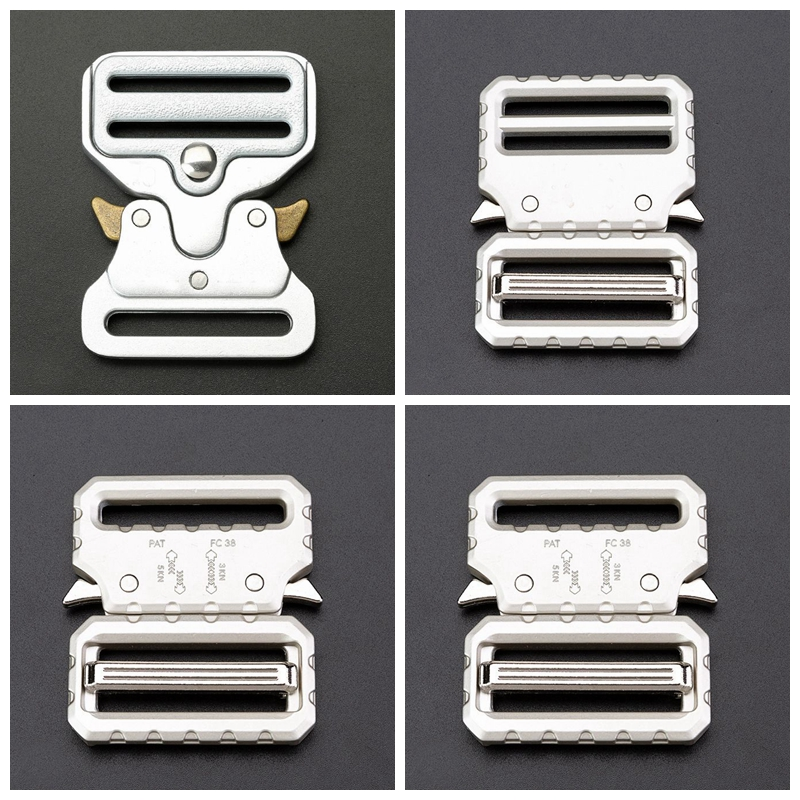 Tactical Belt Buckle Silver Color Webbing Detach Belt Buckles For Men Outdoor Sports Bags Students Bags Luggage Travel Buckle