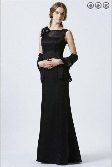 Flowers Vestido De Festa Renda Longo 2018 New Fashion Black Lace Long Formal Evening Party Gown Mother Of The Bride Dresses