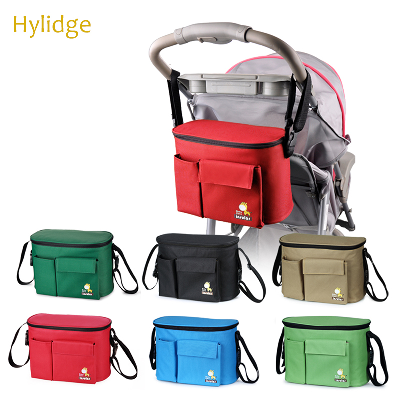 Hylidge Multifunctional Diaper Bag Mummy Bag Liner Large Capacity Waterproof Stroller Bag On A Stroller Diaper Organizer For Children Reusable Cloth Snacks Bag