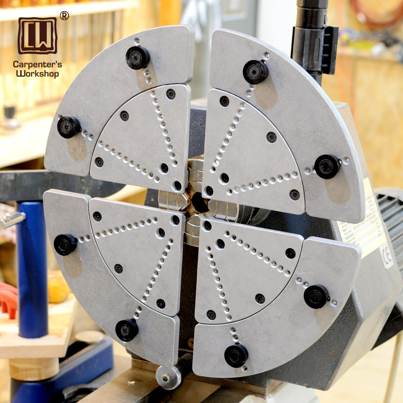 4-Jaws Wood Lathe Self-center Chuck Set Wood Turning Lathe Accessories Suits Scroll Chuck 4 Number Of Chucks
