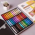 12/36 cores brilhante pintura seca lápis conjunto pan macio pastel lápis arte desenho giz cor lápis escova papelaria para o estudante