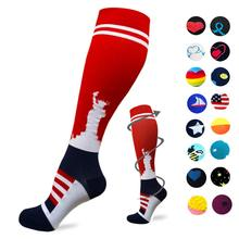 Цветные удобные носки из хлопка, компрессионные, женские, британский стиль, повседневные, Harajuku, дизайнерские, брендовые, модные, новинки, искусство для пары