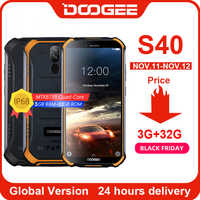 Actualización 3GB + 32GB DOOGEE S40 MTK6739 Quad Core Android 9,0 4G teléfono móvil robusto IP68 Pantalla de 5,5 pulgadas 4650mAh 8.0MP NFC