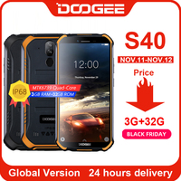Upgrade 3GB+32GB DOOGEE S40 MTK6739 Quad Core Android 9.0 4G Network Rugged Mobile Phone IP68 5.5inch Display 4650mAh 8.0MP NFC