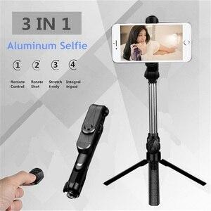 Image 3 - Universel sans fil Bluetooth Selfie bâton Mini pliable téléphone trépied extensible manipulé monopode pour téléphone portable Selfie bâton