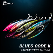 ONASN BLUES CODES II Fishing lures Sinking Pencil 75mm 85mm 95mm Surface Hard Baits Artificial Fishing Wobblers Bass Pike Trout