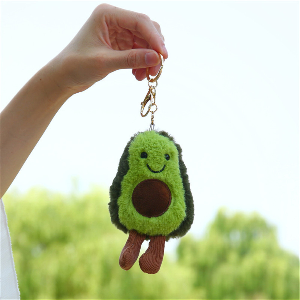 13CM Fruit Avocado Pendant Cute Doll Keychain Plush Plant Ladies Bag Pendant Plush Toy Girl Gift Children's Toys For Children
