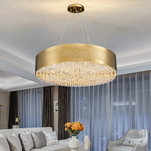 New modern ceiling chandelier lighting for living dining room luxury bedroom round gold crystal lamps new design led home lights new design led crystal light ceiling crystal chandelier modern home chandeliers