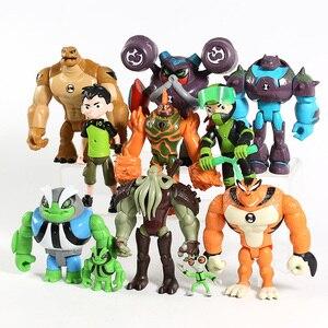 Image 3 - 11 יח\סט בן אפור משנה Heatblast Humongousaur ראט Vilgax PVC פעולה דמויות ילדי צעצועי מתנות