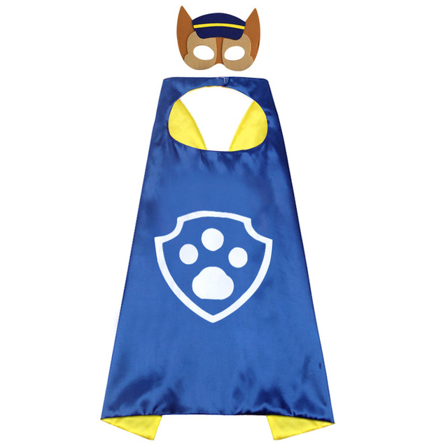 Paw Patrol toys set Mask Cape Cloak Cosplay Cartoon paw patrol Birthday Gifts Christmas Halloween party decoration Kids Toy 4