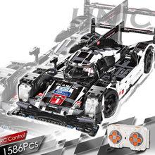 1586 pçs cidade super esporte carro de corrida bloco de construção moc controle remoto carro tijolos rc/não-rc conjunto crianças brinquedos presentes