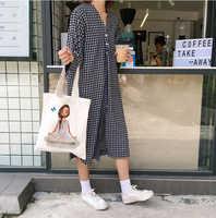 Cartoon Girl Eco Friendly Shopping Bags Women Shoulder Bag Supermarket Canvas Handbag Shopper Bags Reusable Grocery ToteBag