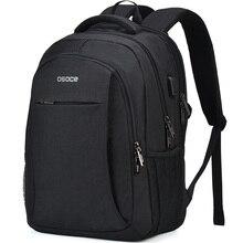 OSOCE torba na laptopa plecak 15.6 Cal z Port ładowania USB wtyczka słuchawkowa wodoodporny biznes plecaki torby