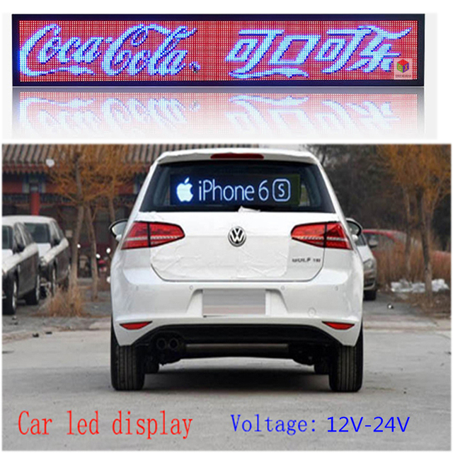 Indoor programmable image LED Car display RGB full color PH4mm LED sign support scrolling text LED advertising screen display