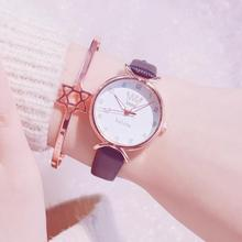 New 2019 Leather Wrist Watch Women Watches Ladies Top Fashion Quartz Wristwatch For Woman Clock Female Hours Relog Montre Femme new 2018 fashion women casual watches cat brand exquisite leather ladies quartz clock hours watch woman d