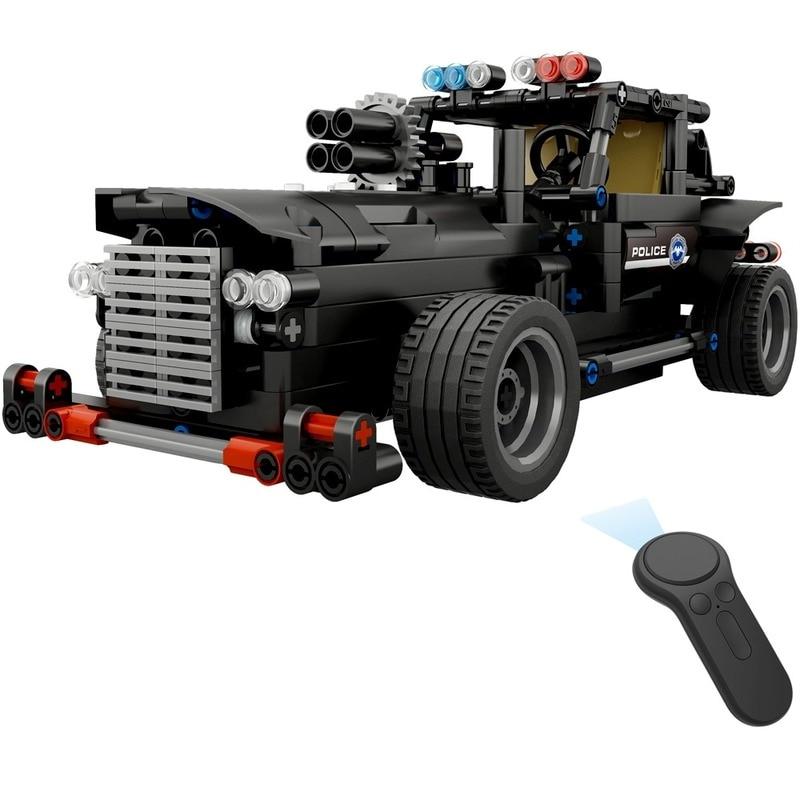 Собранный 2,4G четырехсторонний пульт дистанционного управления, сборка блоков, электрический специальный полицейский командный автомобил...