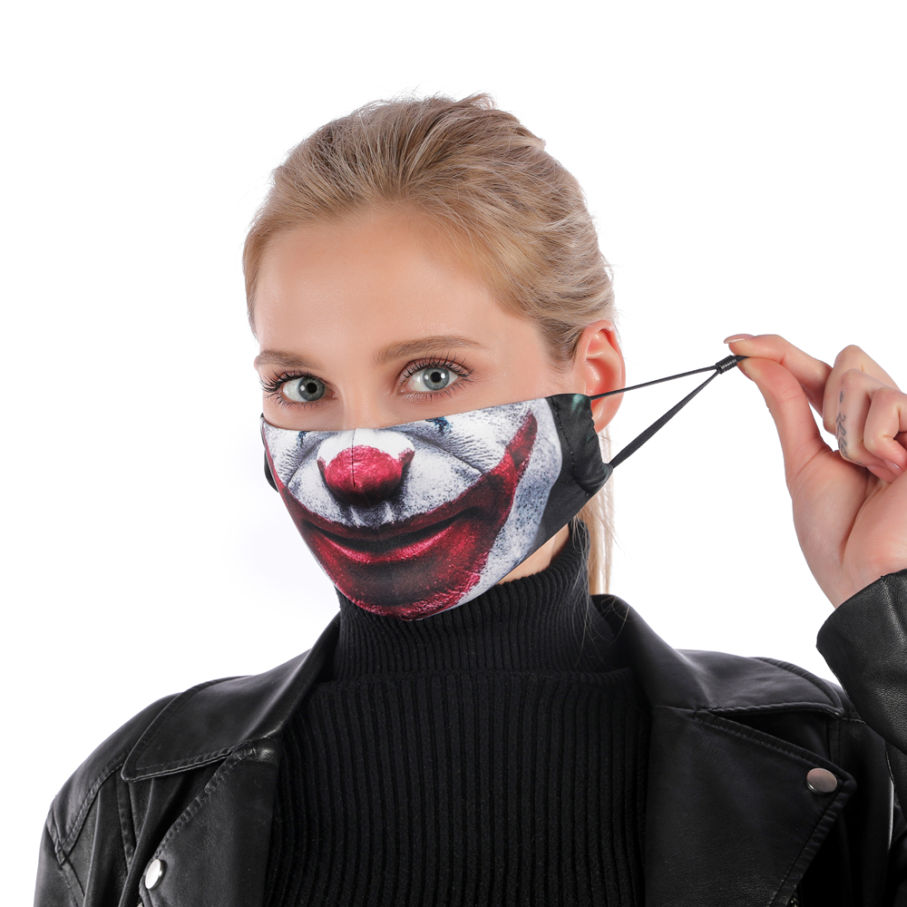 Image 3 - Fashion Reusable Protective PM2.5 Filter Printing mouth Mask anti  dust Face mask Windproof Mouth muffle bacteria proof Flu Mask  -