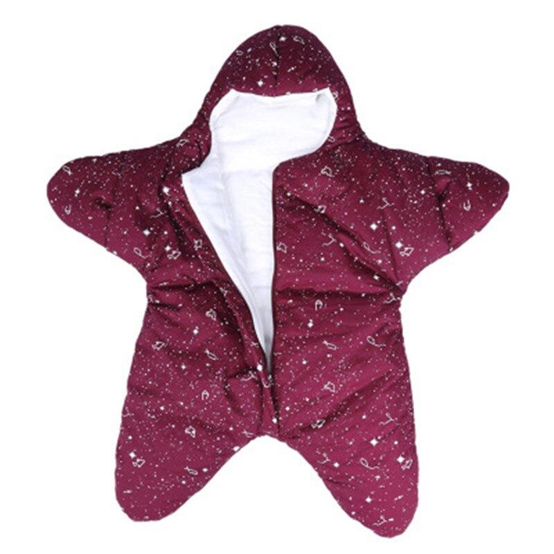 Осенне-зимняя Новинка, спальный мешок с изображением звездной звезды, плюс бархатный стеганый детский Хлопковый чехол с защитой от ударов - Цвет: zise