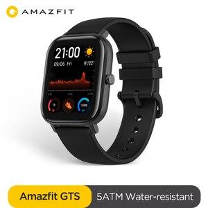 Image 2 - הגלובלי גרסה Amazfit GTS חכם שעון 5ATM עמיד למים Smartwatch 14 ימים סוללה GPS מוסיקה בקרת עור הסיליקון רצועה
