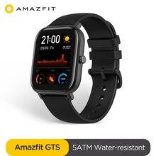 النسخة العالمية Amazfit GTS ساعة ذكية 5ATM مقاوم للماء Smartwatch 14 أيام بطارية لتحديد المواقع تحكم بالموسيقى حزام جلد السيليكون