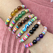 Fashion vintage clay bracelets for women ethnic bohemian colorful