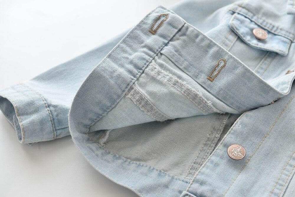 dos desenhos animados animal bordado criancas jeans 05