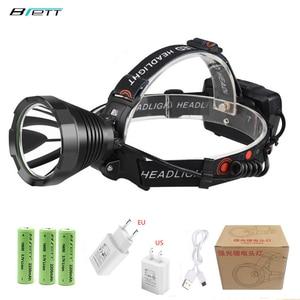 Image 1 - Kopf lampe led wiederaufladbare T40 Lampe perlen USB Mobile power funktion Outdoor Camping Jagd Cave abenteuer led scheinwerfer
