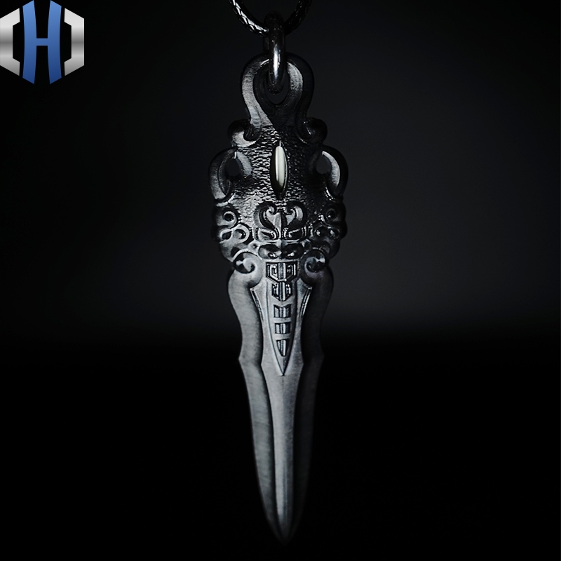 Zirconium Alloy Big Sword Creative Pendant Personality Cool Trend With The Play Variety Of Wearing Style EDC Tools