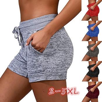 Letnie seksowne szorty mocno rozciągliwe odzież sportowa Fitness obcisła krótka spodnie oddychająca kobieta Push Up odzież sportowa tanie i dobre opinie Puimentiua Poliester REGULAR Osób w wieku 18-35 lat Na co dzień Shorts NONE Elastyczny pas Wysoka polyester Stałe women female girls yoga leggings Trunks