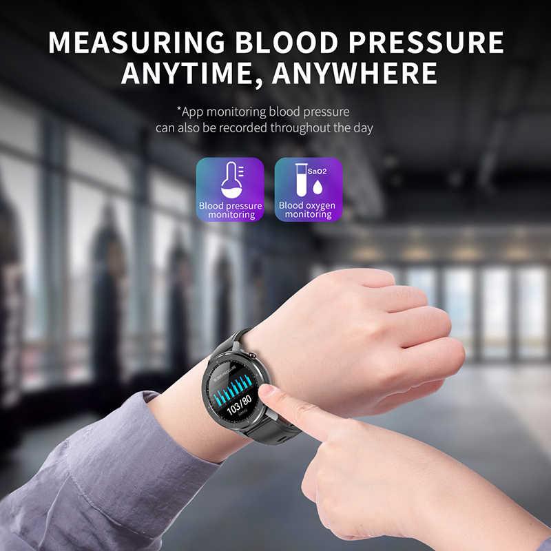 新しい F12 スマート腕時計 ECG 1.3 インチ IP68 防水心拍血圧酸素監視フィットネストラッカースマートウォッチ