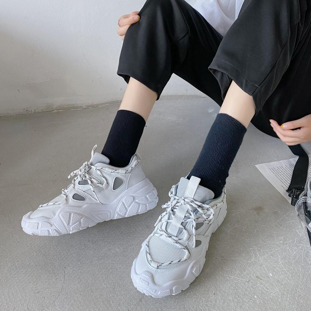 Summer 2020 new fashion wild sports casual shoes old shoes women thick bottom increased breathable mesh shoes X099