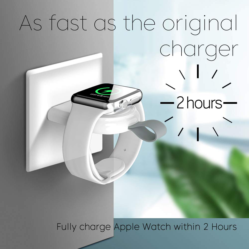 Portable Wireless Charger For Apple Watch Series 5 4 3 2 1 44mm/40mm Charging Dock Station USB Charger Cable IWatch 5 4 44 Mm