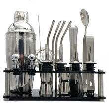 20 pçs conjunto de cocktail boston shaker mixer inoxidável bebida que faz kit para uso barra casa bartender kit barras conjunto ferramentas