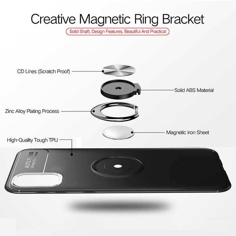 KEYSION טבעת טלפון מקרה עבור סמסונג S20 Ultra S10 לייט הערה 20 10 בתוספת עמיד הלם כיסוי עבור A51 A71 A41 a31 A21S A01 A70 A50 M31