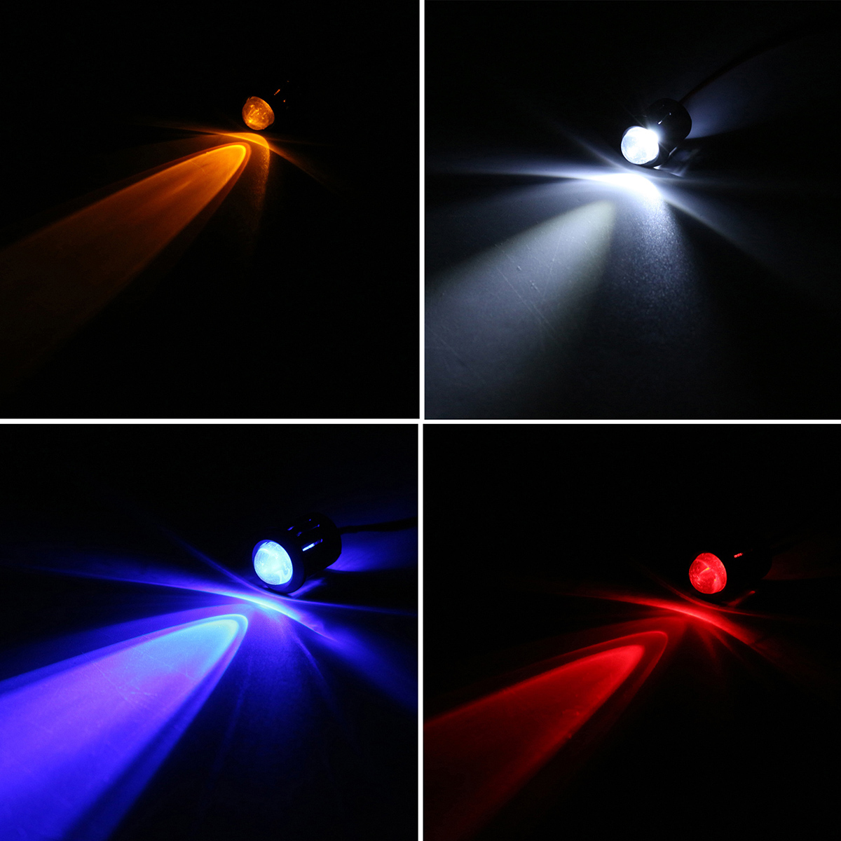 10Pcs 4 Colors 12V 10mm Pre-Wired Constant LED Light Flashing Lamp Bright Water Clear Emitting LED Diode Bulbs + Plastic Shell