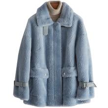 Real Fur Coat Wool Jacket Autumn Winter Coat Women Clothes 2