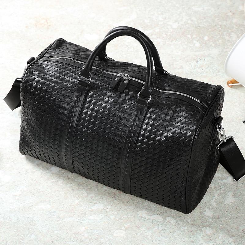 2019 New Product Travel Bag Weaving Large Capacity Handbag Shoulder Bag Computer Bag Korean Travel Bag Fashion Simple